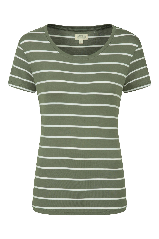 Aviemore Stripe - t-shirt damski - Green