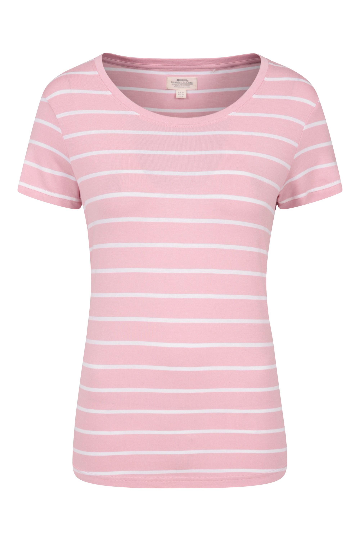 Aviemore Stripe - t-shirt damski - Pink