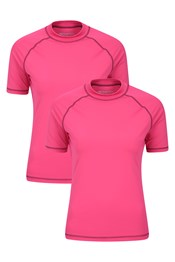 Womens UV Rash Vest Multipack