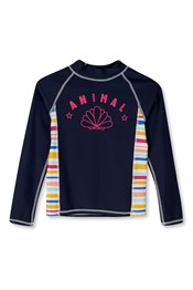 Animal Oceana Girls Long Sleeve Rash Vest