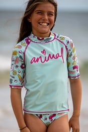 Animal Paddle Girls Rash Vest