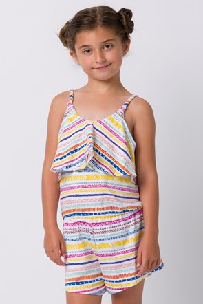 Animal Ripples Girls Playsuit