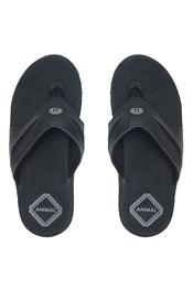 Animal Fader Leather Mens Flip-Flop