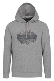 Sketch Mountain Graphic Mens Hoodie