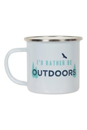 040391 ENAMEL MUG - ID RATHER BE OUTSIDE