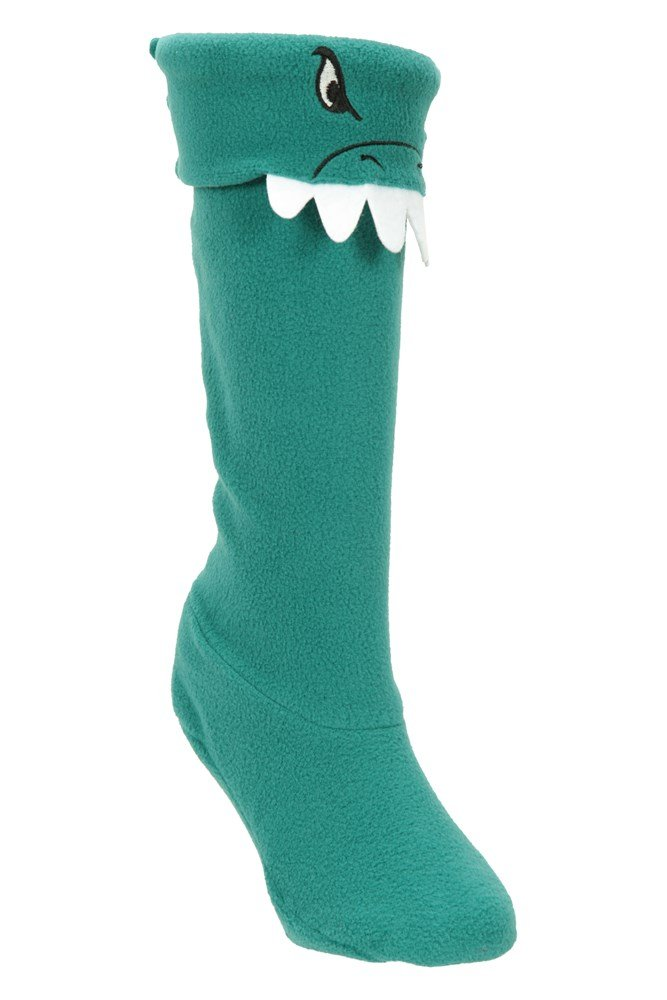 Kids Animal Welly Liners - Green