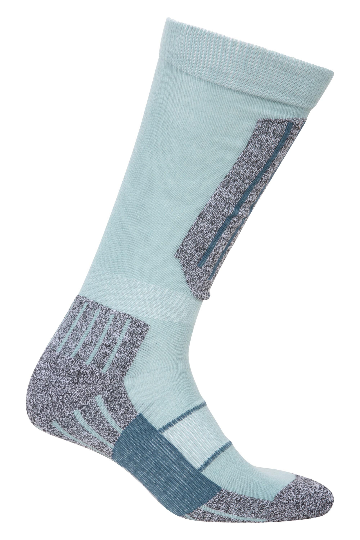 Womens Ski Socks - Light Blue