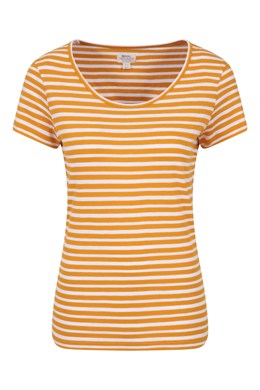 Vancouver Stripe - t-shirt damski - Yellow