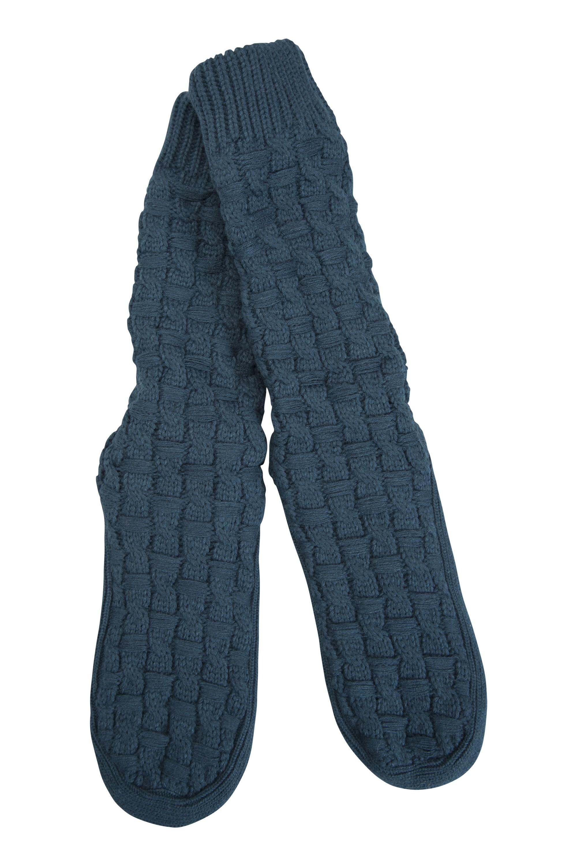 Knit Grippy Snug Socks - Petrol