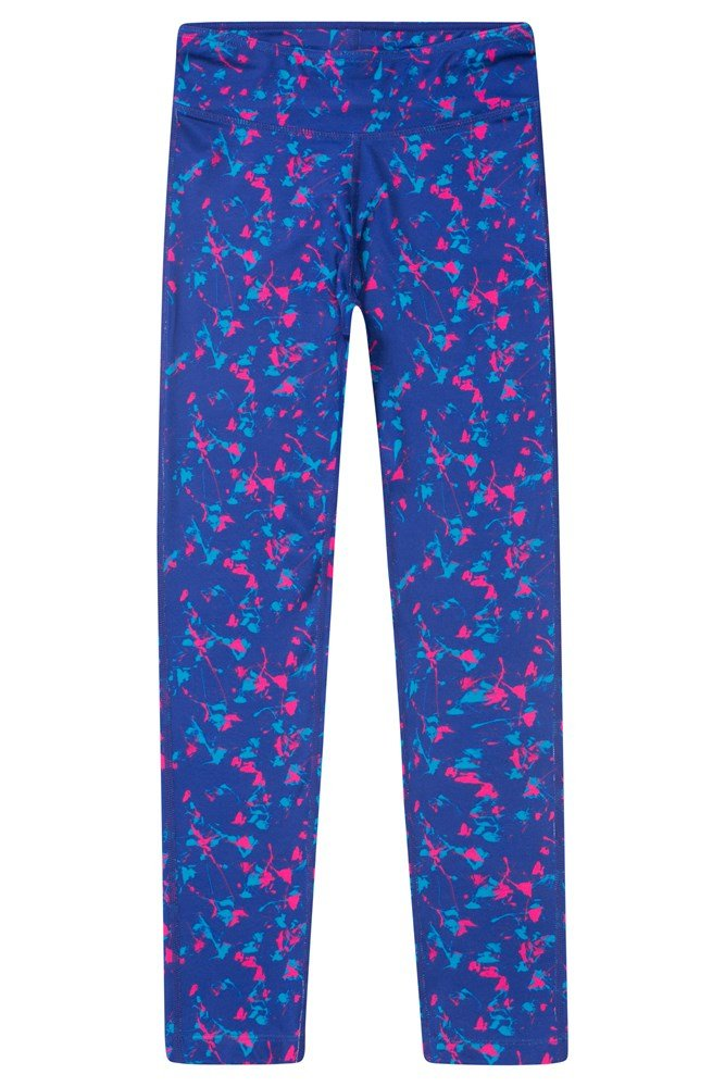 Kids Beat Patterned Leggings - Blue