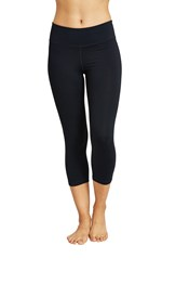 Zakti Womens Back To Black Capri Leggings