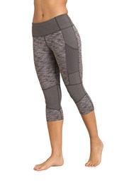 Zakti Block Out Womens Capri Leggings