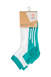 Zakti Double Your Comfort Trainer Womens Socks