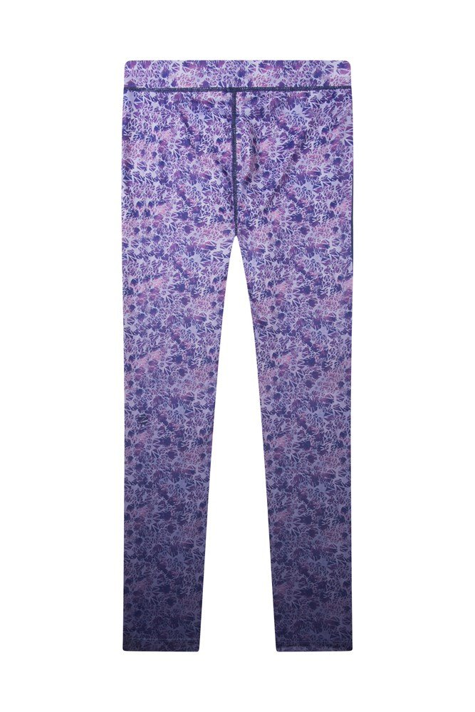Kids Patterned Energise Leggings - Purple