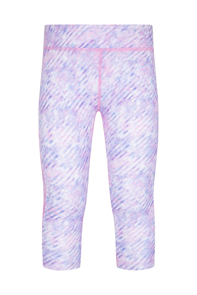 Kimberly Wyatt Kids Move To The Beat Patterned Capri Leggings - Light Grey