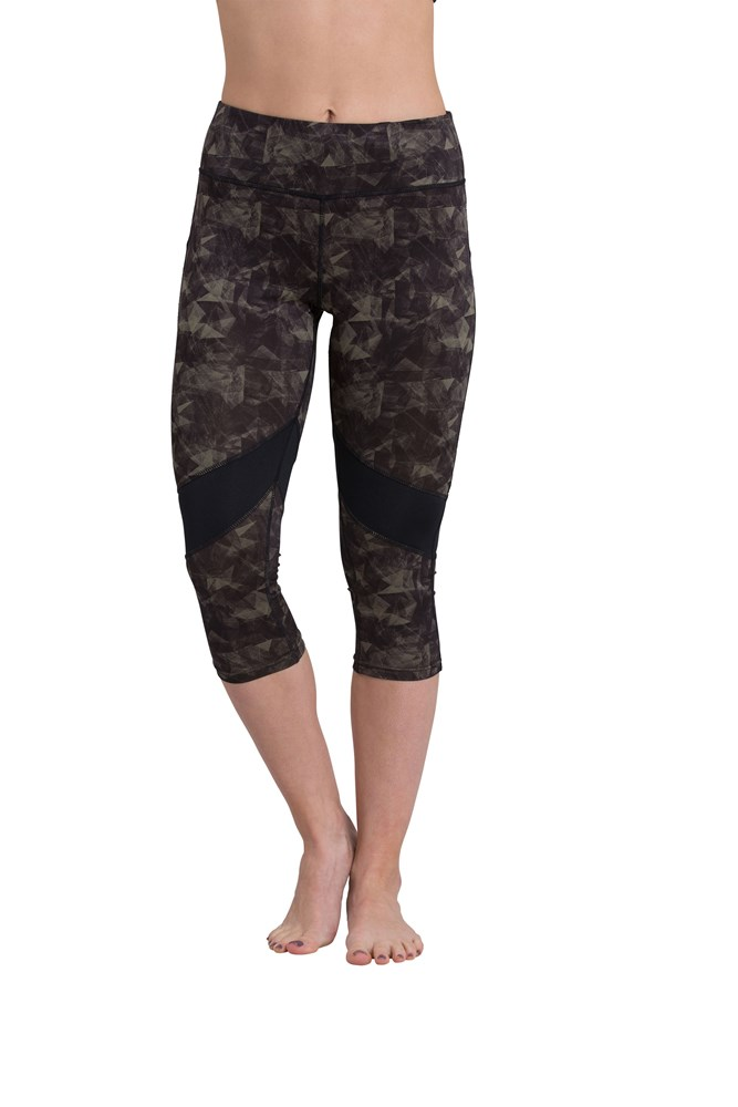 Lunge Capri Leggings - Light Khaki