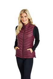 Zakti Womens Light As A Feather Down Padded Gilet