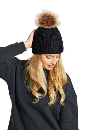 Powder Puff Fur Lined Beanie
