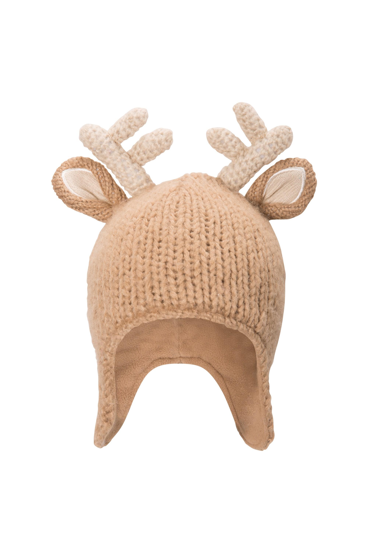 Kids Oh My Reindeer Beanie - Brown