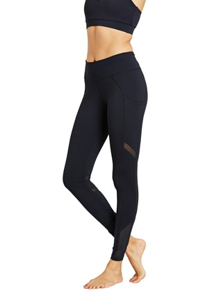 Zakti Womens Get The Message Mesh Leggings