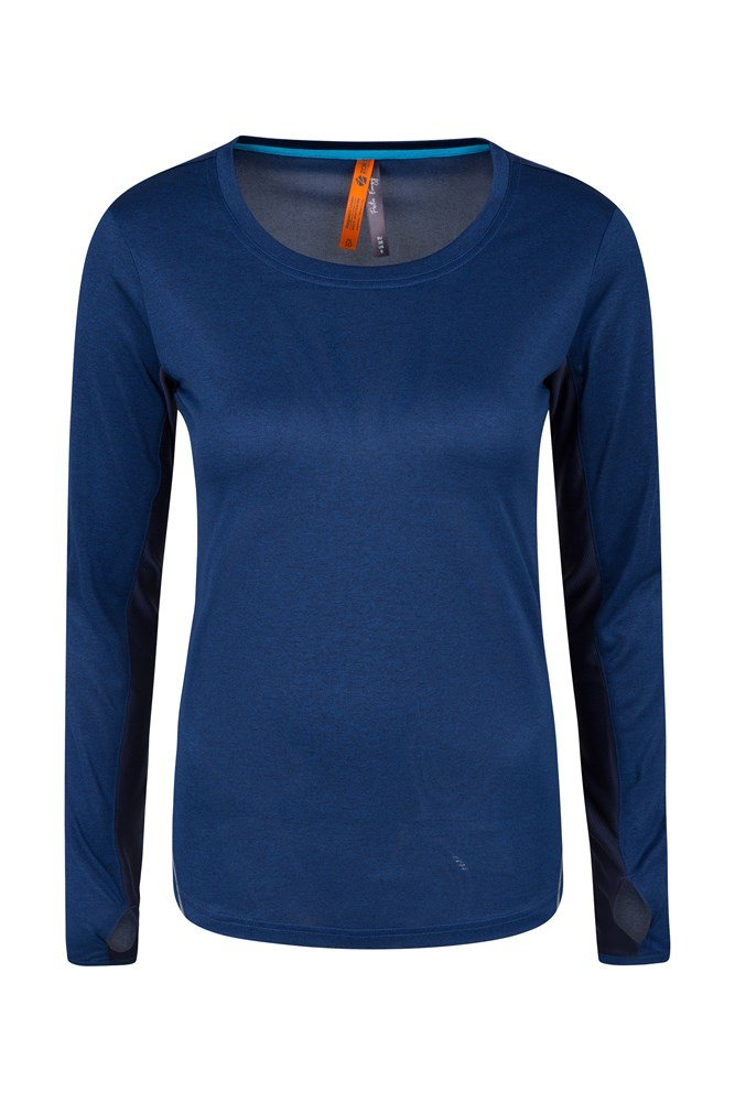 Flaunt It Long Sleeve Top - Navy