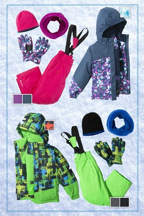 Kids Patterned Ski Package