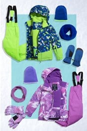 Kids Printed Ski Package