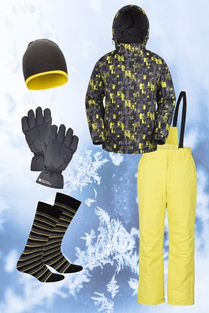 Mens Patterned Ski Package