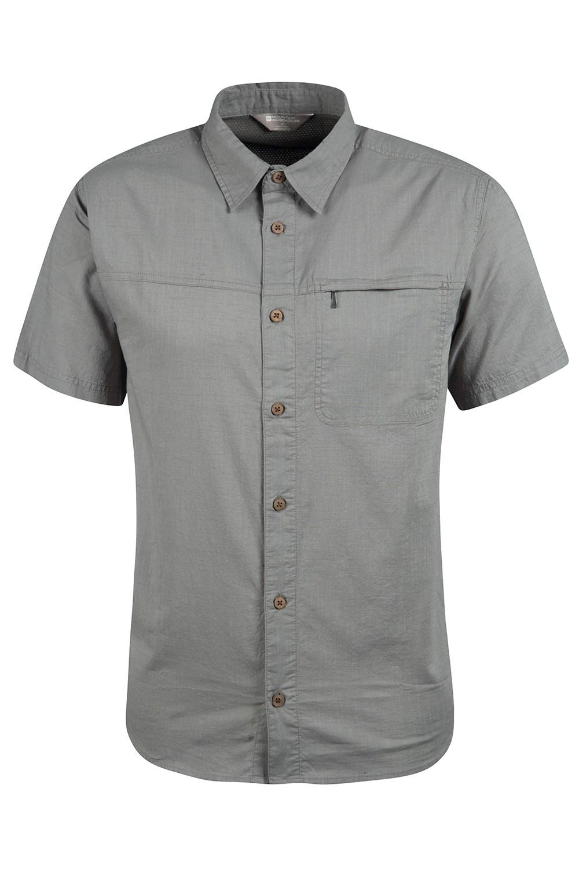 Coconut Short Sleeve Mens Travel Shirt - Green