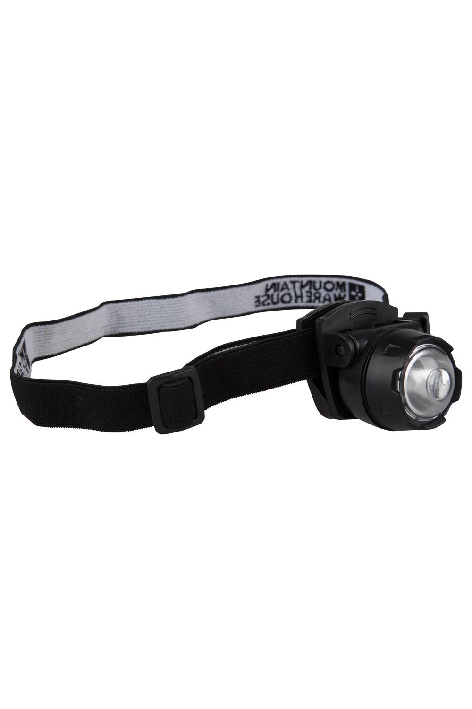 Mini Lampe Torche Frontale à LED - Noir