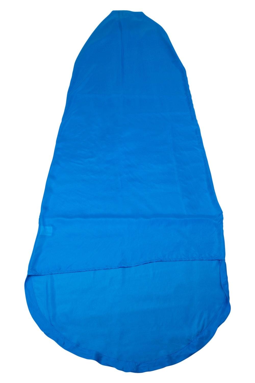 Silk Mummy Sleeping Bag Liner - Bleu Povz4C