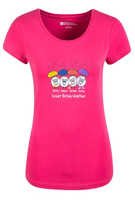 Great British Weather Womens T-Shirt