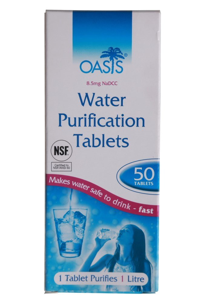 Image of Pastilles de Purification d'eau Oasis - One