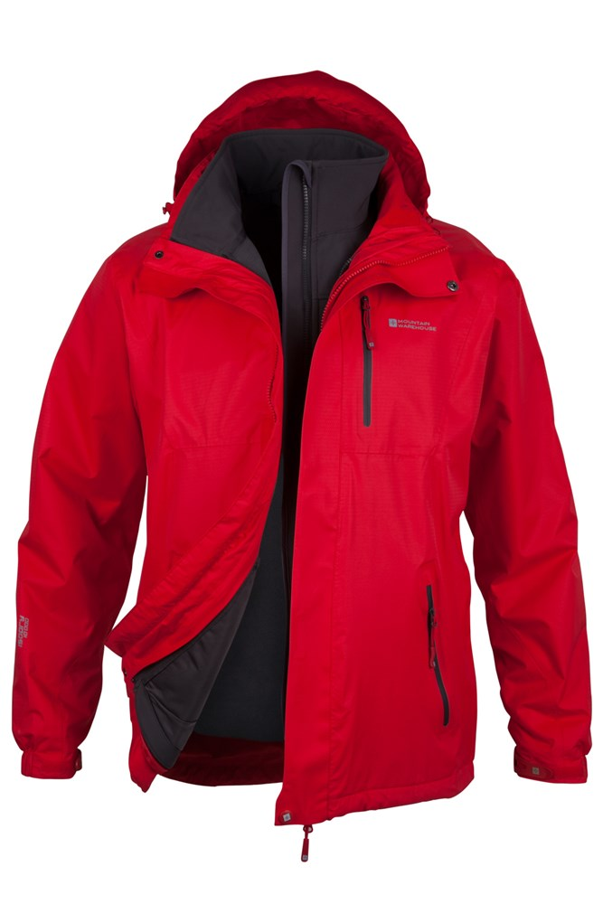 Bracken Extreme 3 in 1 Mens Waterproof Jacket | Mountain Warehouse US