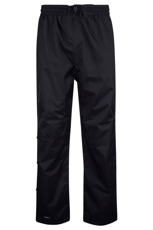 Downpour Mens Waterproof Trousers Short Length - Black