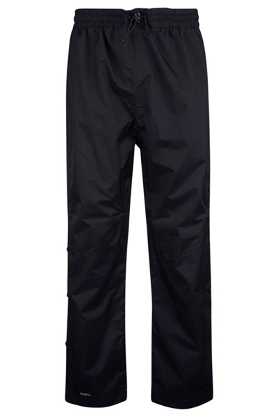 Downpour Mens Waterproof Trousers Short Length - Black