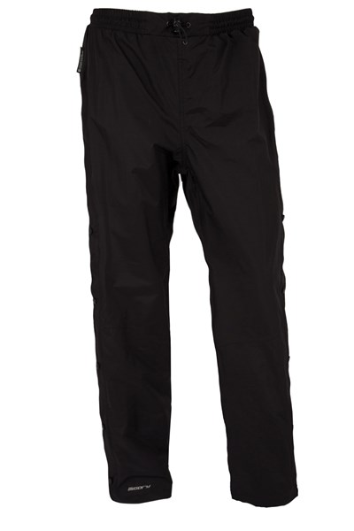 Downpour Womens Short Length Waterproof Trousers - Black