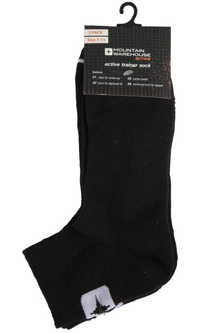 Active Trainer Socks - 2 Pack