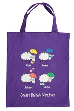 Great British Weather Shopping Bag - Purple