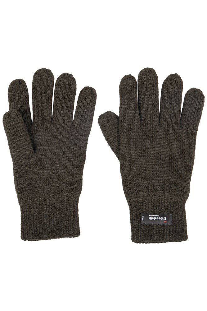 Thinsulate Mens Knitted Gloves - Green