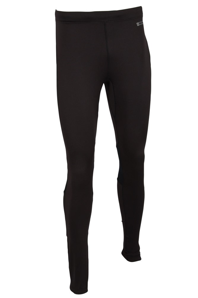 Winter Sprint Mens Full Length Running Tights - Black