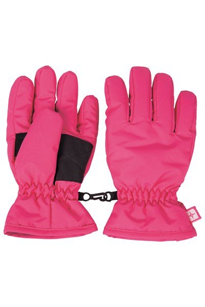Kids Ski Gloves - Pink