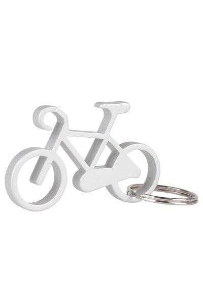 Bicycle Keyring Bottle Opener - Silver