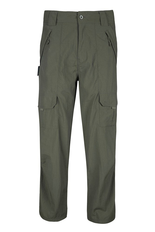 Terrain Mens Short Length Trousers - Green