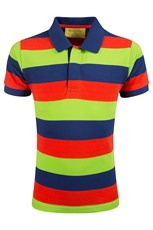 Beaky Kids Striped Polo