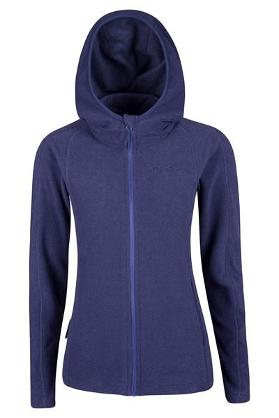 Hebridean Melange Womens Fleece - Purple