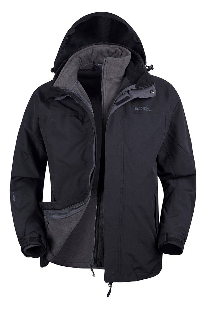 Storm Mens 3 in 1 Waterproof Jacket | Mountain Warehouse GB