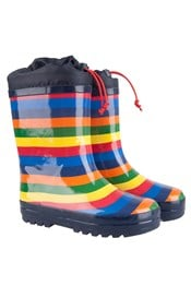 Rainbow Winter Kids Wellies