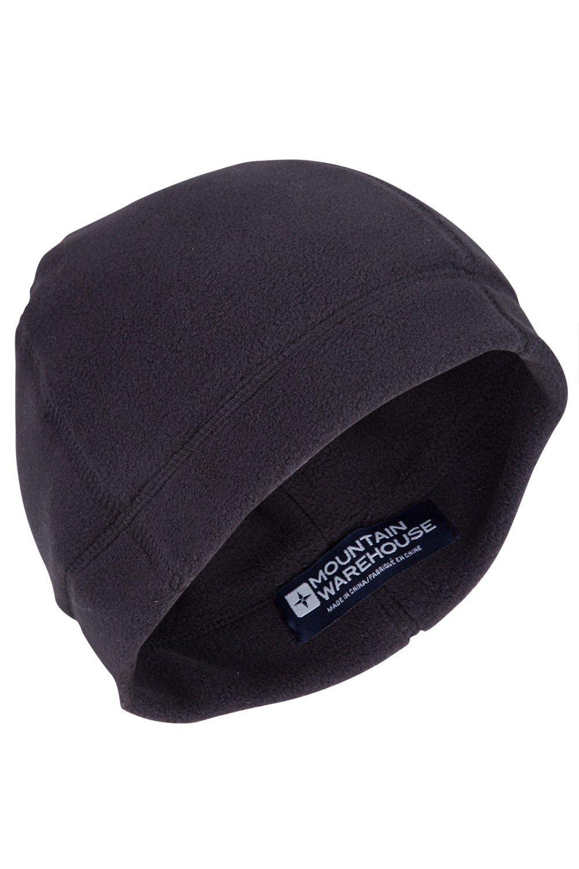 Double Layer Fleece Beanie - Black