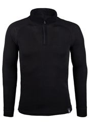 Merino Mens Long Sleeve Zip Neck Top